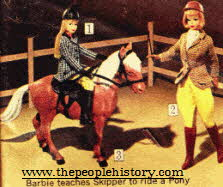 Barbie Teaching Skipper to Ride a Pony From The 1960s