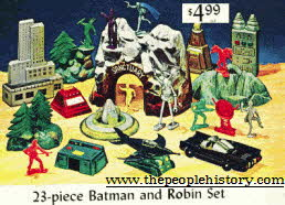 Batman and Robin Models including Batcave, Batmobile and Bat Plane and Gotham City From The