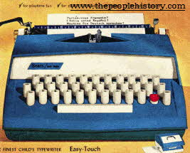 Childs Typewriter From The 1960s