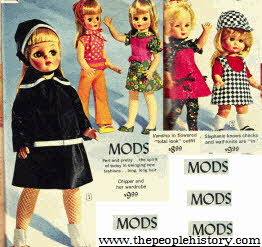 MOD Dressed Dolls with 1960s style Fashion Clothes