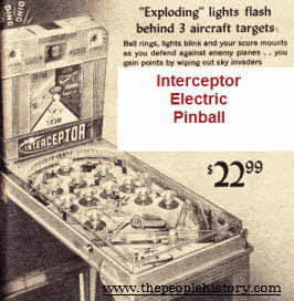 Electric Pinball Game From The 1960s