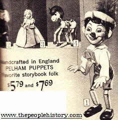 Pinocchio Puppet From The 1960s