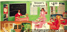Barbies School House With Skipper and Skooter From The 1960s