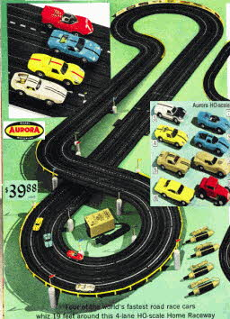 Aurora Car Racing Set From The 1960s