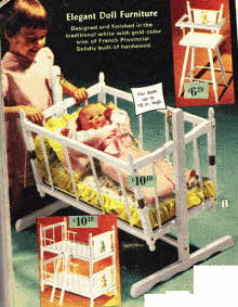 Dolls Furniture From The 1960's