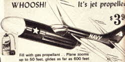 Jet Gas Propelled Jet Plane From The 1960s