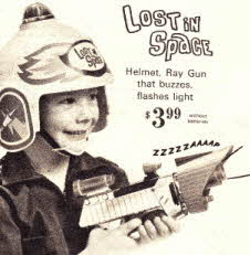 Lost In Space Gun and Helmet From The 1960s