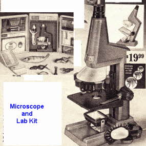 Microscope Lab Kit From The 1960s