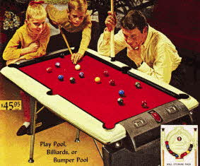 Pool Table From The 1960s