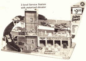 Auto Service Station Model From The 1960s