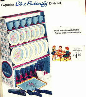 Little Girls Play Tea Set From The 1960s