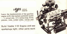 V8 Engine Model shows working parts From The 1960s