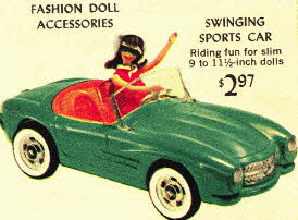 Barbie Doll Sports Car From The 1960s