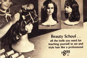 Girls Beauty School Kit From The 1960s