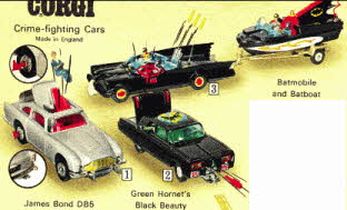 Corgi Crime Fighters Cars  From The 1960s