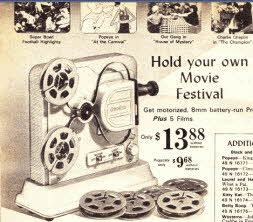 Home Movie Projector and Movies From The 1960s