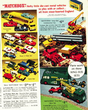 Matchbox Cars from the 1960's