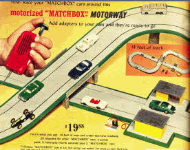 Matchbox Motorized Motorway Racing Set From The 1960s
