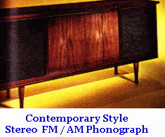 Contemporary Style late 60's Stereo Radio Phonograph