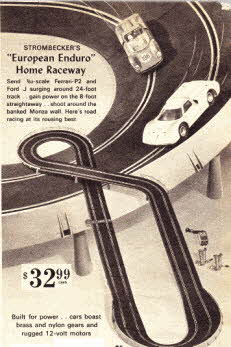 Streombecker's Car Racing Set From The 1960s