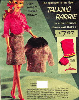 Vintage 1960s Talking Barbie