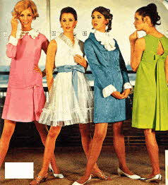 Late 1960s Teen Fashion Style dresses