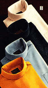 Mens 60's Turtle Neck Shirts