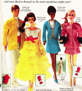 Barbie and Ken Dressed Up for a night out From The 1960s