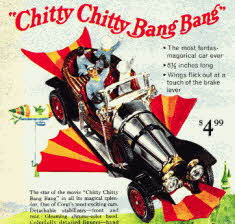 Chitty Chitty Bang Bang model From The late 60s movie of the same name