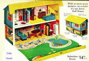 1960s Suburban Dolls House From The 1960s