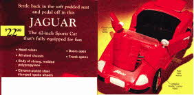 Late Sixties Jaguar Pedal Car From The 1960s