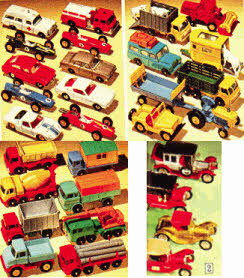 Range Of Boys Matchbox Cars From the 60s