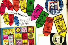 Snoopy and Peanuts Pennants From The 1960s