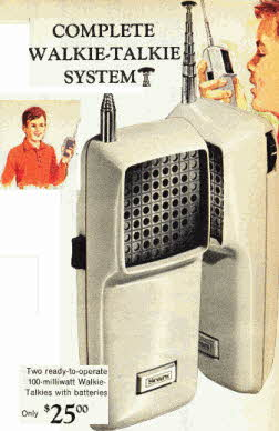 Set Of Walkie Talkies From The 1960s