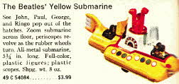 The Beatles Yellow Submarine Corgi Model From The 1960s