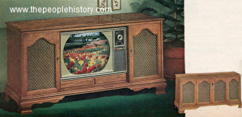 1964 Maple Veneer Color Television