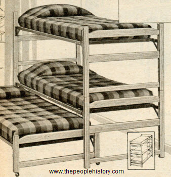 1961 Three Tiered Bunk Bed