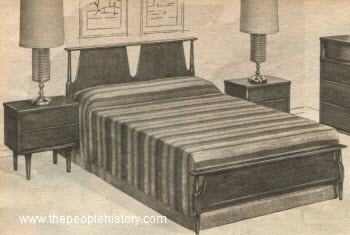 1962 Butternut Veneer Bedroom Set