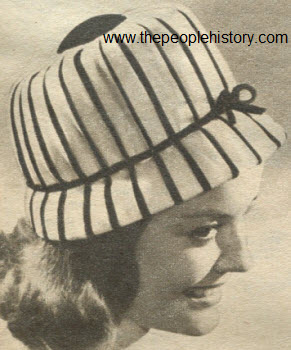 1962 Button Top Cloche