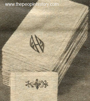 1962 Embroidered Initial Handkerchief