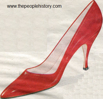 1962 Red Patent Pump