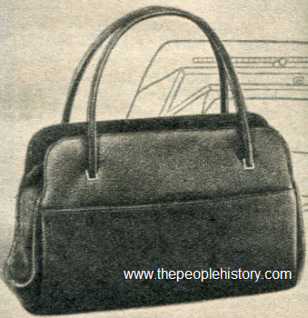 1965 Pebble Texture Swagger Bag
