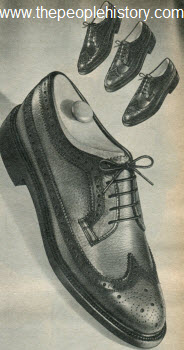 1965 Traditional Wing Tip Shoe
