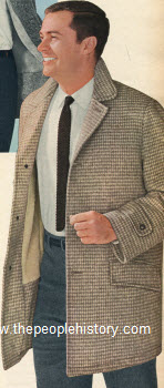 1960 Houndstooth Check Coat