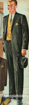 1960 Plaid Corduroy Suit