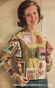 1960 Postage Print Blouse
