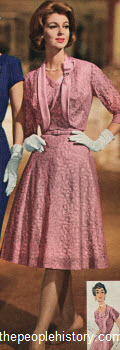 1961 Lace Jacketed Dress