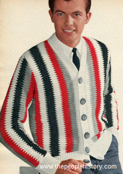 1961 Striped Cardigan
