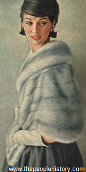 1963 Double Fur Collar Stole