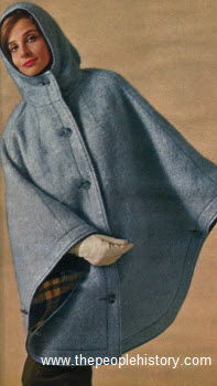 1963 Mohair Hooded Cape